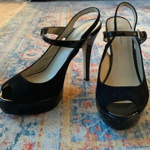 Inc. Black Mary Jane Stilettos